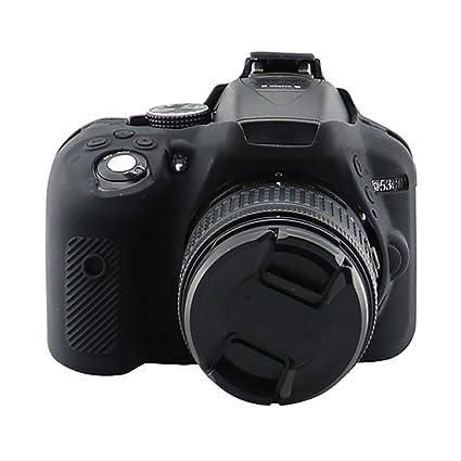 JieGREAT - Carcasa de silicona para cámara Nikon D5300: Amazon.es ...
