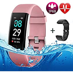 BETIMESYU Fitness Tracker Waterproof Activity Tracker with Heart Rate Blood Pressure Blood Oxygen Monitor Step Counter Calorie Counter Pedometer Activity Smart Watch for Men Women Kids