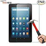 #4: [2 Pack] ZTOZ All New HD 10 Tablet Tempered Glass Screen Protector (7th Generation,2017 Release)- [LifeTime Replacement Warranty Service][Anti-Scratch][Anti-Fingerprint][Bubble Free]