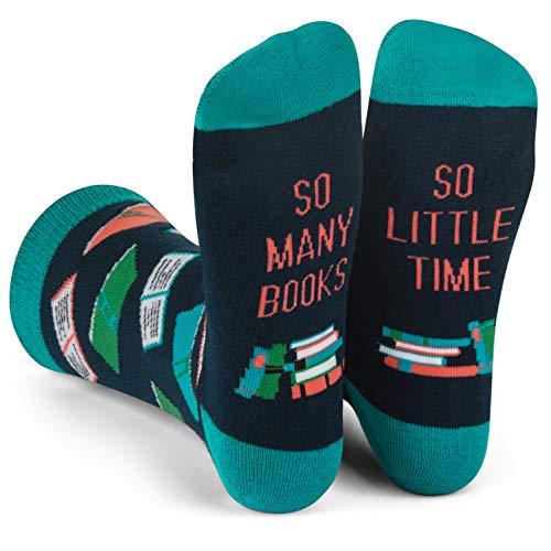 Lavley Nerd Socks - Cool Socks for Men and Women - Funny Gift for Geeks (Books, Math, Science) (Books)