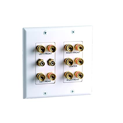 Amazon.com: Vanco 45-0060 5.2 Home Theater Connection Wall Plate ...