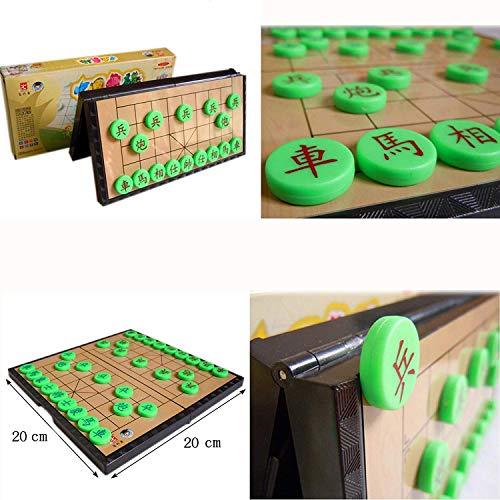 HagieNu 木製 XIANG QI 中国の将棋 折り畳み式 携帯用 細工 ゲーム 贈り物 中国チェス チェスピース おもちゃ Yitengの商品画像