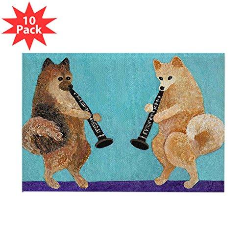 - CafePress - Pomeranian Clarinet Duo - Rectangle Magnet, 2