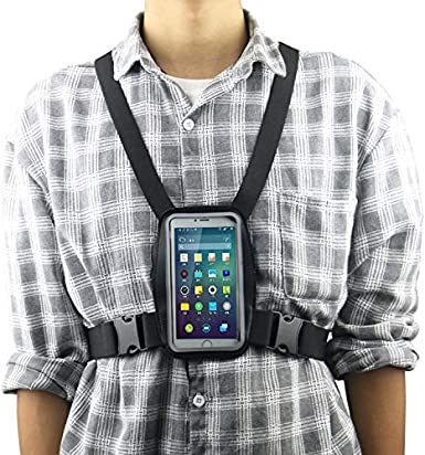 Soporte de Correa para el Pecho para Smartphone + Funda Impermeable Compatible con Todos los teléfonos móviles: Amazon.es: Electrónica