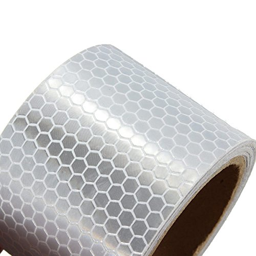 5CM3M White Reflective Safety Warning Conspicuity Tape Film Sticker Reflective Safety Material