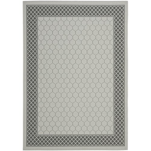 Safavieh Courtyard Collection CY7933-78A18 Light Grey and Anthracite Indoor/Outdoor Area Rug (6'7
