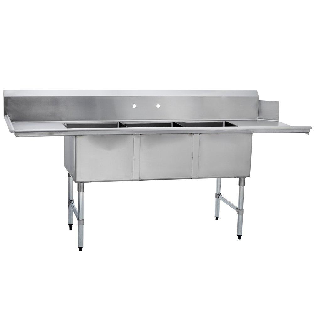 Amazon.com: Fenix Sol Acero Inoxidable Cocina Comercial Tres ...