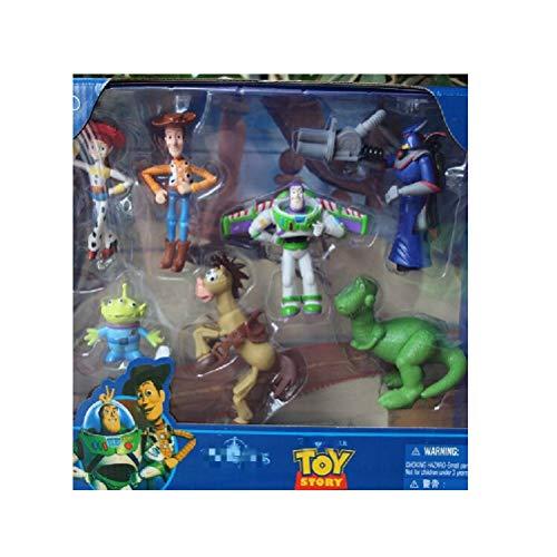 Doc&Good Inc. 7 pcs Set Toy Story Alien Woody Jessie Action Figure Toys -