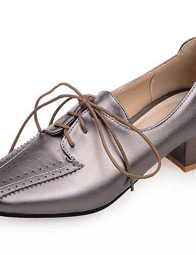 ZQ hug Zapatos de mujer - Tacón Robusto - Punta Cuadrada - Oxfords - Oficina y Trabajo / Vestido / Casual - Semicuero -Azul / Negro / Rosa / , blue-us8 / eu39 / uk6 / cn39 , blue-us8 / eu39 / uk6 / cn green-us9 / eu40 / uk7 / cn41