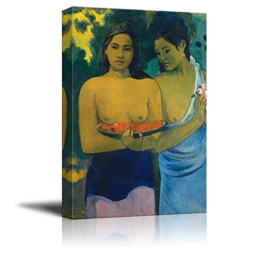 Two Tahitian Women (Deux Tahitiennes) by Paul Gauguin - Canvas Print Wall Art Famous Painting Reproduction - 12