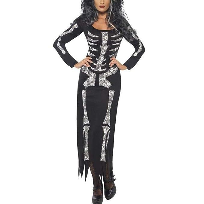 BaZhaHei de Halloween, Mujer Traje de Esqueleto de Las Mujeres del Fantasma del Festival de