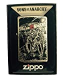 Zippo Custom Lighter - Samcro Sons of Anarchy with Anarchy Reaper - Regular Street Chrome