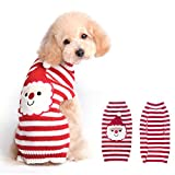 BOBIBI Dog Sweaters for Christmas Santa Pet Cat Winter Knitwear Warm Clothes XS