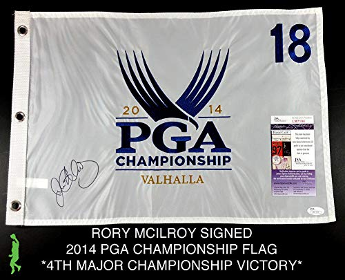 Rory Mcilroy Autographed Signed 2014 Pga Championship Pin Flag Golf JSA Authentic