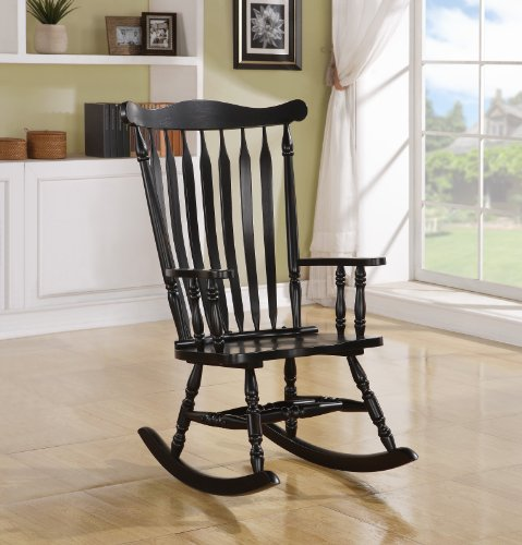 Black Oak Traditional Rocking Chair by Michael Anthony Furniture