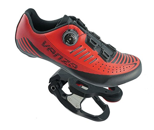 Venzo Road Bike for Shimano SPD SPD SL Look Cycling Bicycle Shoes & Pedals 40 ()