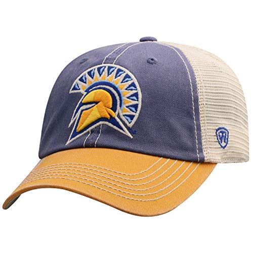 Top of the World Men's Relaxed Fit Adjustable Mesh Offroad Hat Team Color Icon, San Jose State Spartans ()