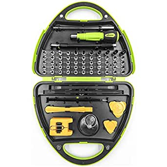 Webetop Screwdriver Set 67 in 1 Magnetic Repair Tool Kit with Portable Box for iPhone8, 8 Plus Game Console Tablet PC MacBook iPad