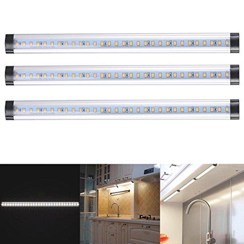 3pcs Kitchen Under Cabinet Shelf Counter LED Light Bar Lighting Kit Lamp White (Party City Grand Ave)