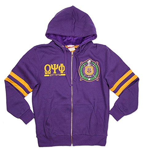 (Omega Psi Phi Fraternity Mens New Zip-Up Hoodie 3XL)