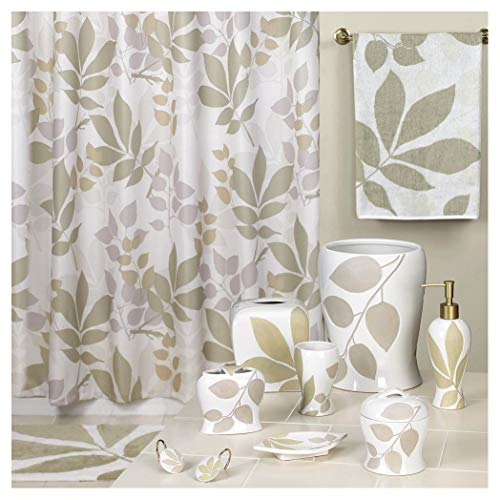 - DS BATH Shadow Leaves Shower Curtain,Floral Shower Curtain,Mildew Resistant Fabric Shower Curtains for Bathroom,Contemporary Bathroom Curtains,Print Waterproof Polyest,72