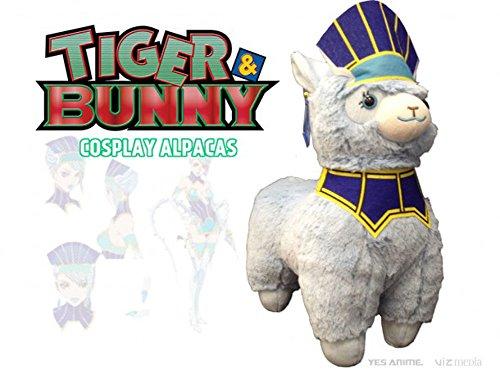 - Tiger & Bunny Hero Suit Cosplay Alpaca Prime Plush, Blue Rose