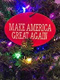 PRESIDENT DONALD TRUMP CHRISTMAS TREE ORNAMENT - MAKE AMERICA GREAT AGAIN 4'x6'