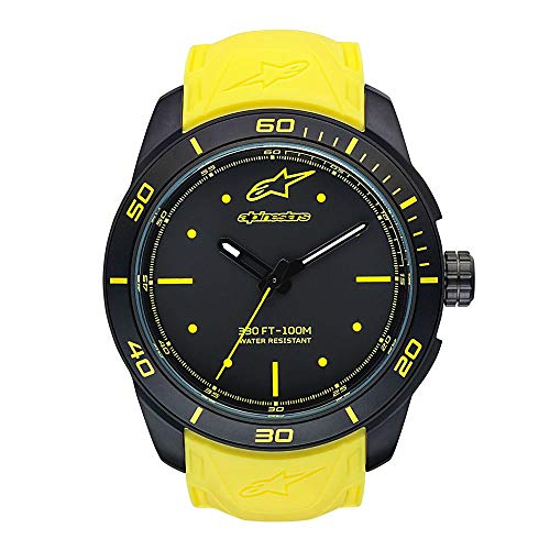 ALPINESTARS Unisex-Adult Analogue Classic Quartz Watch with Silicone Strap 1037-96008 (Italian Alpine Hat)