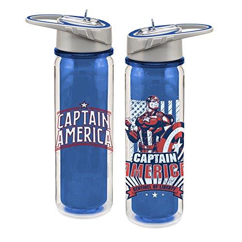 Vandor 26278 Marvel Captain America 18 oz. Tritan Water Bottle