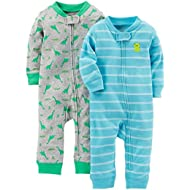 Baby Boys' 2-Pack Cotton Footless Sleep and Play