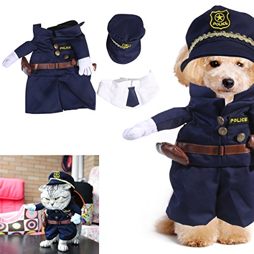 UEETEK Funny Dog Cat Jeans Uniform Pet Clothes