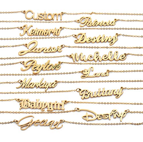 HUAN XUN Custom My Familys Any Name Necklaces Emma B C Gold Bracelets
