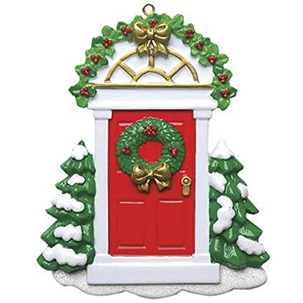 Amazon Com Personalized Red Door Christmas Ornament For Tree 2018