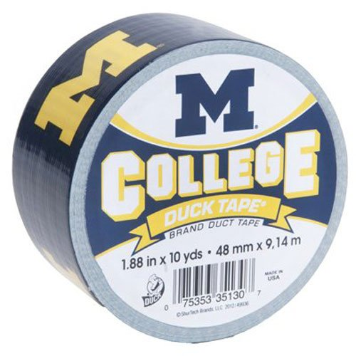 (Duck Brand 281600 University of Michigan College Logo Duct Tape, 1.88-Inch by 10 Yards, Single Roll)