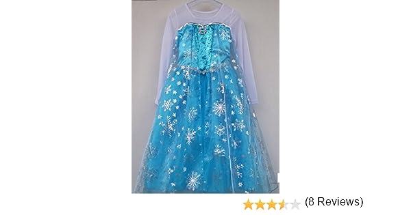 Reina Elsa De Frozen Disney Estilo Niñas Princesa Disfraces 7-8 ...