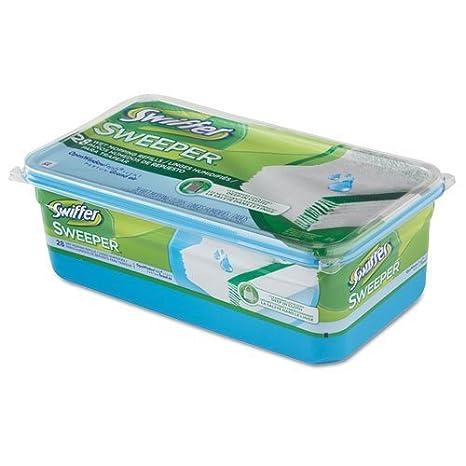 pgc82856 - Swiffer paños de recambio para mojado, ventana abierta fresco, gamuza, color blanco, 8,8 x 10, 28/caja: Amazon.es: Oficina y papelería