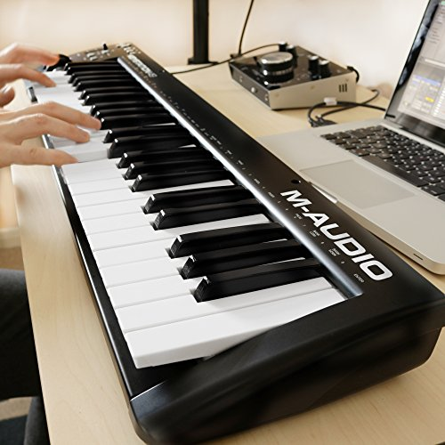 M-Audio Keystation 49 II | 49-Key USB MIDI Keyboard Controller with Pitch-Bend & Modulation Wheels - Image 3
