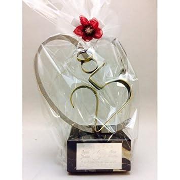 Regalo Para Bodas De Plata Grabado Figura Corazón 25 Aniversario Regalos Personalizados