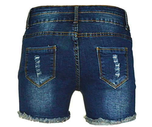 PHOENISING Women's Sexy Stretchy Fabric Hot Pants Distressed Denim Shorts,Size 2-16 by PHOENISING (Image #2)