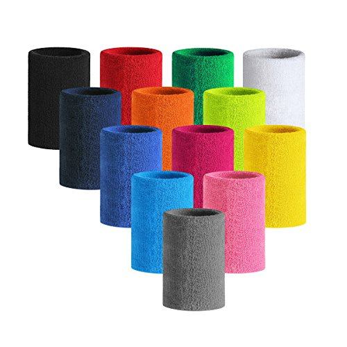 HOTER 6 Inch Long Thick Wristband / Sweatband For Tennis And Other Sports, 1PC/2PCS PACK