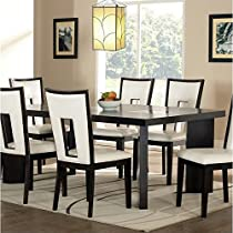 Delano Table w 18 in. Leaf & Cracked Glass Insets in Espresso