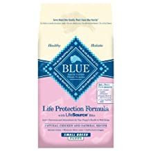 Blue Buffalo Dry Dog Food for Small Breed Puppies, Chicken and Oatmeal Recipe, 6-Pound Bag