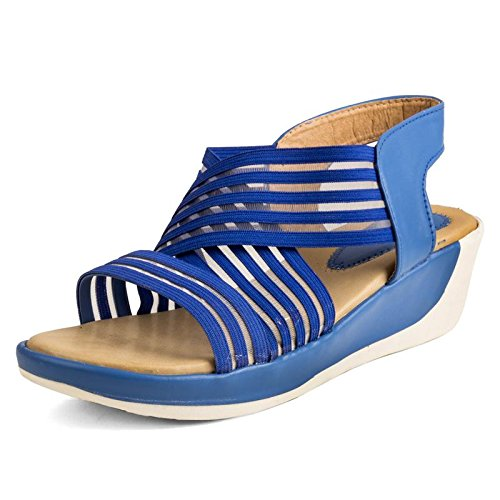 d4faab716 CUTE FASHION Blue Sandals  Buy Online at Low Prices in India - Amazon.in
