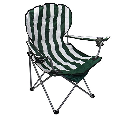 37.5 Inches Height Green Stripe Folding ()