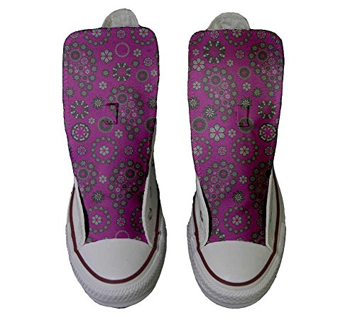 Sneaker Hot Italien Imprimés Hi All Star Pink artisanal Unisex Personnalisé et chaussures coutume produit Converse Paysley HRPCqUOU