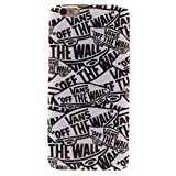 """BJS iPhone 6 Plus Case, Soft TPU Rubber Gel Snap-on Back Case Cover For Apple iPhone 6 Plus 5.5 Inch with Stylus Pen(Vans """"off the wall"""")"""