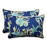 Pillow Perfect Outdoor/Indoor Daytrip Pacific Over-Sized Rectangular Throw Pillow (Set of 2)
