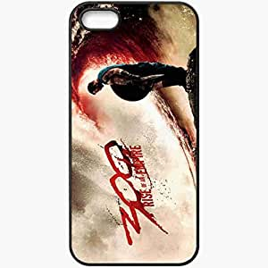 Personalized iPhone 5 5S Cell phone Case/Cover Skin 300 rise of an empire 2014 movies Black
