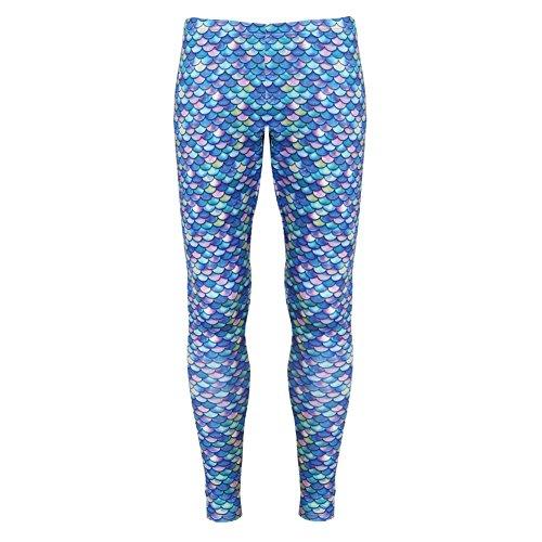 Women's Mermaid Print Leggings - Small