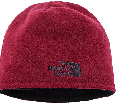 The North Face Winter Thicken Polar Fleece Thermal Beanie Hat (Red, One Size)